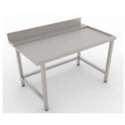 Rozsdamentes kivezető asztal hátsó felhajtással